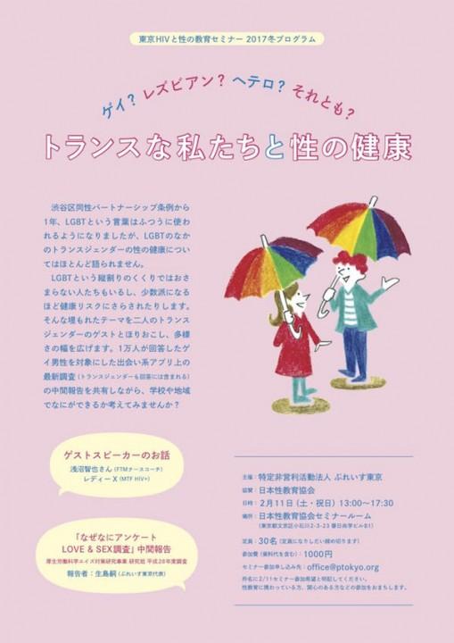 東京HIVと性の教育セミナー2017冬